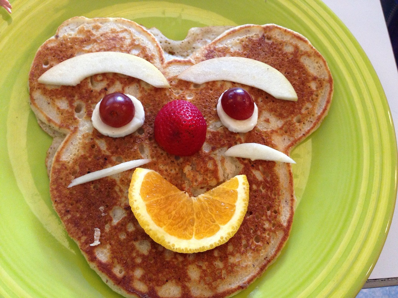 украшение детского блюда