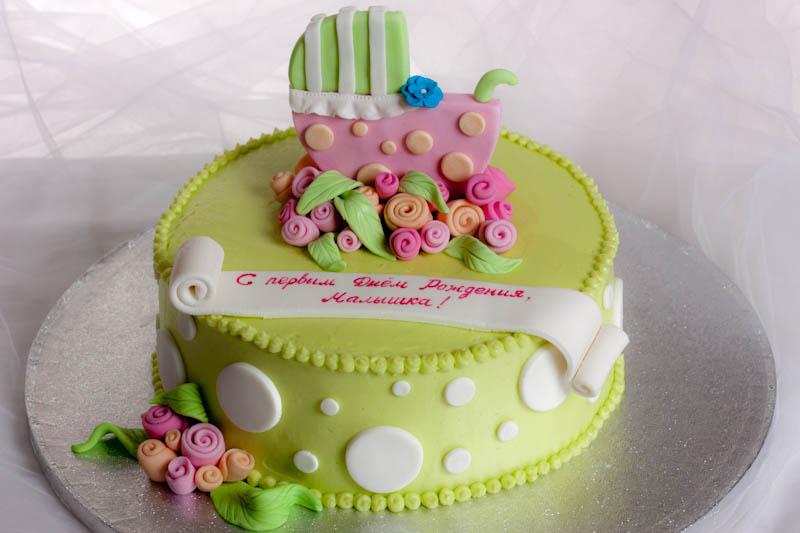 Торт своими руками девочке на 1 годик
