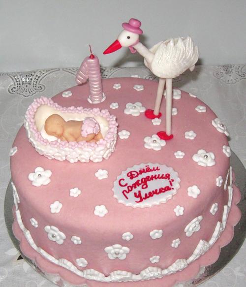 торт для девчонки на 1 год