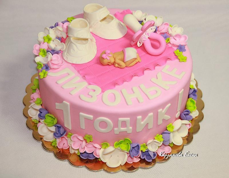 Фото тортов на 1 год для девочек
